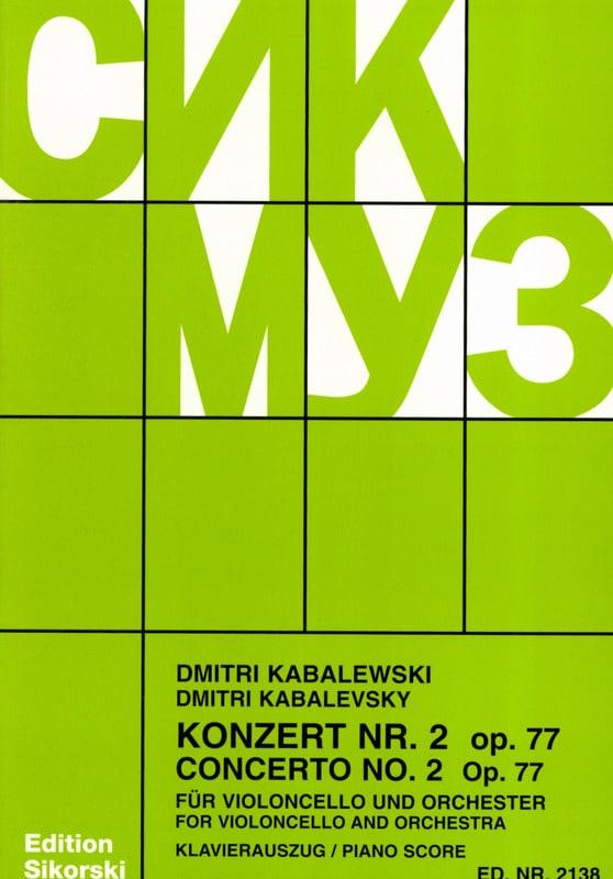 Dimitri Kabalevski - Concerto No. 2 op. 77 - Partition - di-arezzo.com