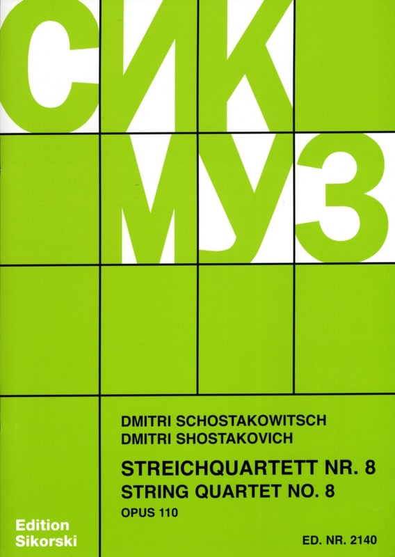 CHOSTAKOVITCH - Streichquartett Nr. 8 op. 110 - Stimmen - Partition - di-arezzo.co.uk
