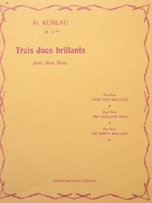 3 Duos brillants op. 13bis - 2 Flûtes - laflutedepan.com