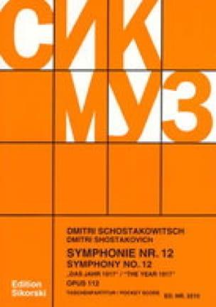 Symphonie Nr. 12 op. 112 - Partitur - CHOSTAKOVITCH - laflutedepan.com
