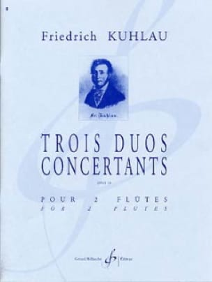3 Duos concertants Opus 10 - 2 Flûtes - laflutedepan.com