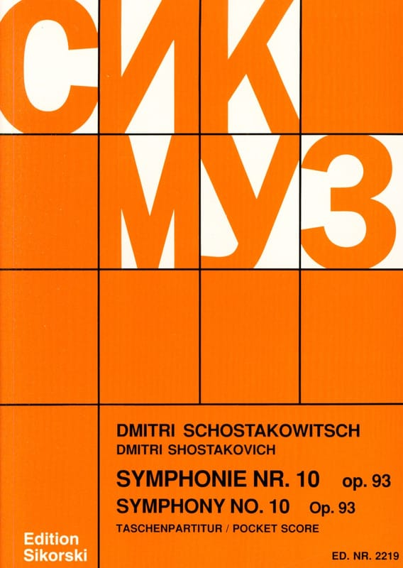 CHOSTAKOVITCH - Symphony Nr. 10 op. 93 - Partitur - Partition - di-arezzo.co.uk