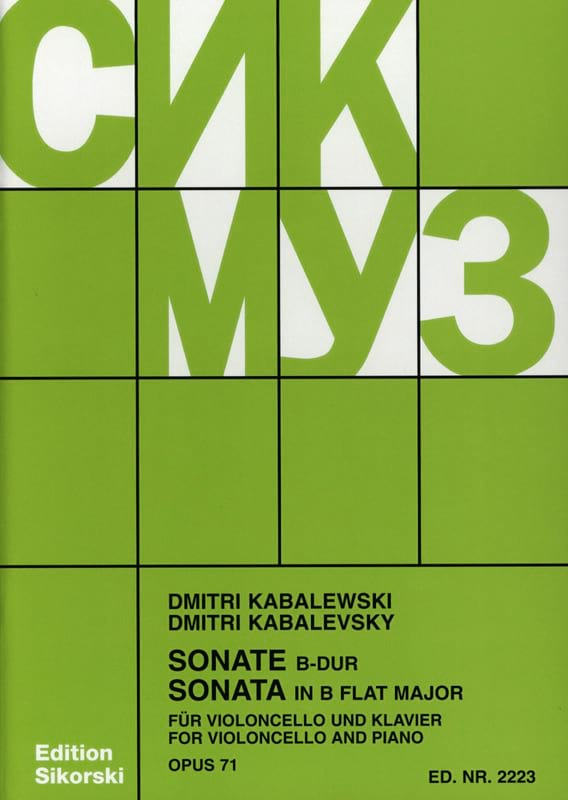 Dimitri Kabalevski - Sonata Op. 71 - Partition - di-arezzo.co.uk