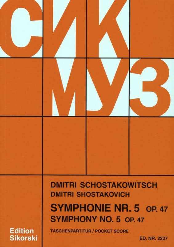 CHOSTAKOVITCH - Symphony No. 5 Op. 47 - Partitur - Partition - di-arezzo.co.uk