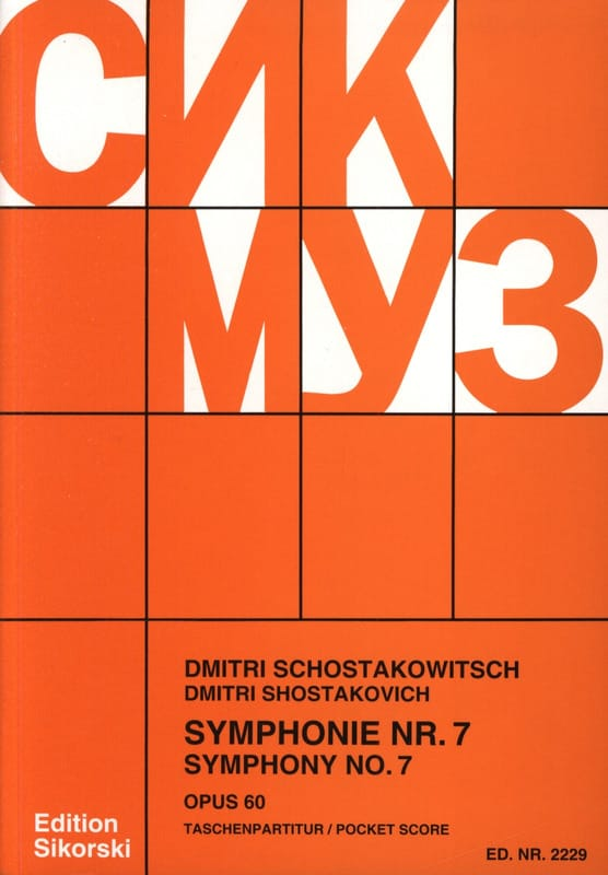 CHOSTAKOVITCH - Symphony No. 7, Op. 60 - Partitur - Partition - di-arezzo.co.uk