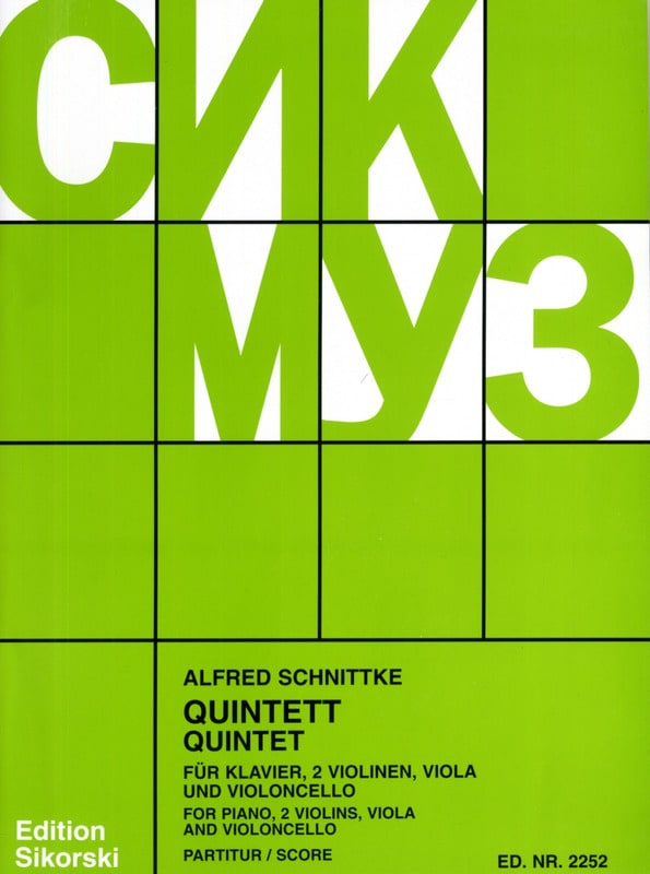 Klavierquintett -Partitur + Stimmen - SCHNITTKE - laflutedepan.com