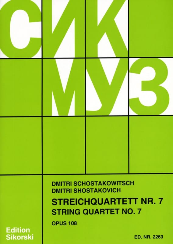 CHOSTAKOVITCH - Streichquartett Nr. 7 op. 108 - Stimmen - Partition - di-arezzo.co.uk