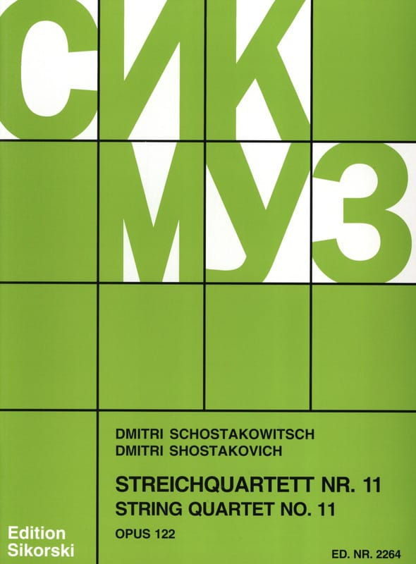 CHOSTAKOVITCH - Streichquartett Nr. 11 op. 122 - Stimmen - Partition - di-arezzo.co.uk