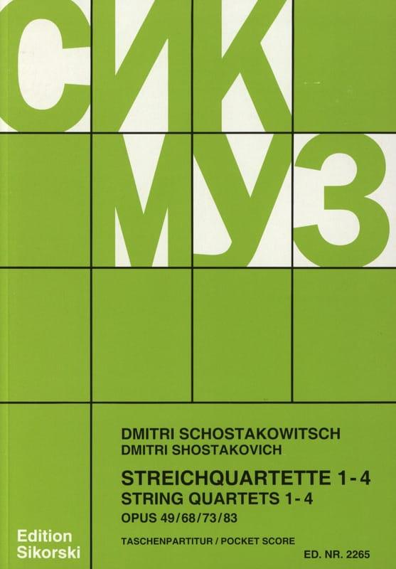 Streichquartette Nr. 1-4 - Partitur - CHOSTAKOVITCH - laflutedepan.com