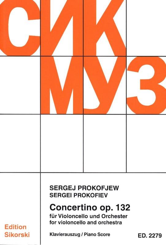 Serge Prokofiev - Concertino Violoncello op. 132 - Cello piano - Partition - di-arezzo.com