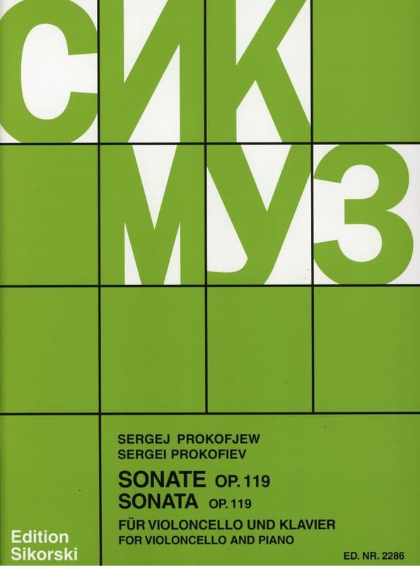 Serge Prokofiev - Sonata op. 119 para violonchelo y piano - Partition - di-arezzo.es