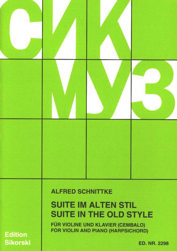 Suite im alten Stil -Violine Klavier - SCHNITTKE - laflutedepan.com