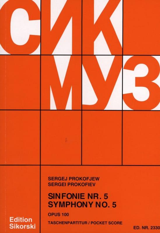 Serge Prokofiev - Sinfonía núm. 5 op. 100 - Puntuación - Partition - di-arezzo.es
