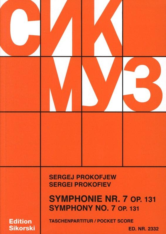 Serge Prokofiev - Sinfonía nº 7 op. 131 - Puntuación - Partition - di-arezzo.es