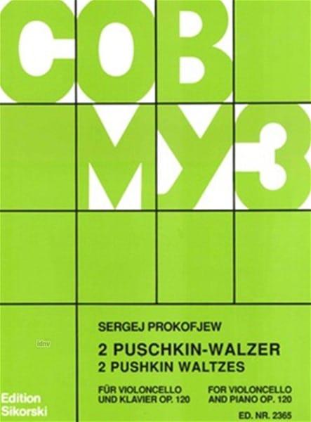 Serge Prokofiev - 2 Puschkin-Walzer op. 120 - Partition - di-arezzo.es