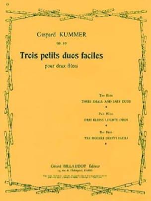 3 Petits duos faciles op. 20 - Gaspard Kummer - laflutedepan.com