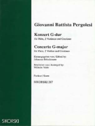 Giovanni Battista Pergolesi - Konzert G-Dur - Partitur - Partition - di-arezzo.co.uk