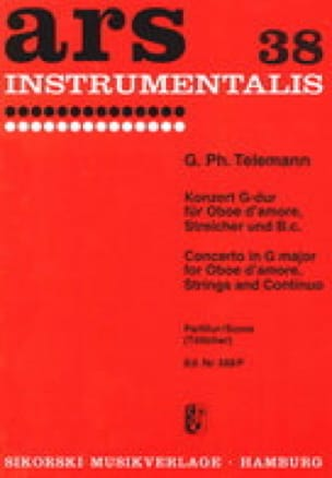 Konzert G-Dur - Conducteur - TELEMANN - Partition - laflutedepan.com