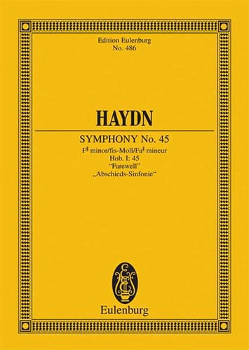 HAYDN - Sinfonie Nr. 45 Fis-Moll the Farewells - Partition - di-arezzo.com