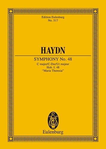 Sinfonie Nr. 48 C-Dur - HAYDN - Partition - laflutedepan.com