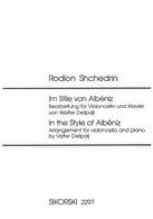 Im Stile von Albéniz - Cello piano - laflutedepan.com