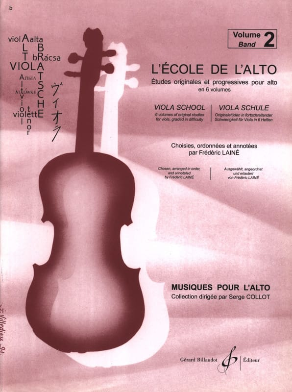 Frédéric Lainé - The School of the viola Volume 2 - Partition - di-arezzo.co.uk