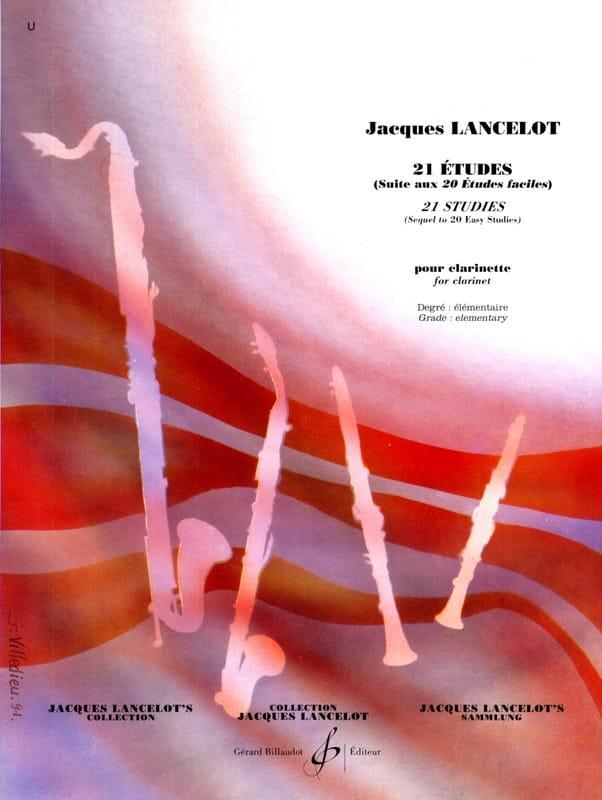 Jacques Lancelot - 21 Studies for clarinet - Partition - di-arezzo.co.uk