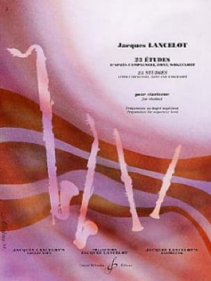 Jacques Lancelot - 23 Studies for Clarinet - Partition - di-arezzo.co.uk