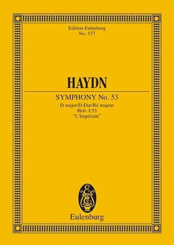 Sinfonie Nr. 53 D-Dur - HAYDN - Partition - laflutedepan.com