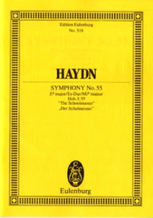 Symphonie Nr. 55 Es-Dur - HAYDN - Partition - laflutedepan.com