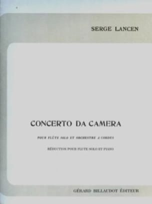 Serge Lancen - Concierto para cámara - Flauta de piano - Partition - di-arezzo.es