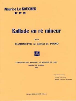 Ballade en ré mineur - Boucher Maurice Le - laflutedepan.com