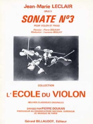 Jean-Marie Leclair - Sonata op. 9 n ° 3 D major - Partition - di-arezzo.co.uk