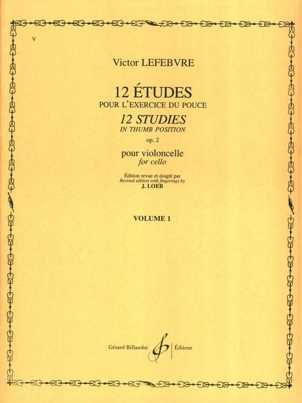 Victor Lefebvre - 12 Estudios Op. 2 Volumen 1 - Partition - di-arezzo.es