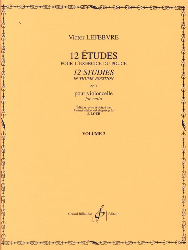 Victor Lefebvre - 12 Estudios Op. 2 Volumen 2 - Partition - di-arezzo.es