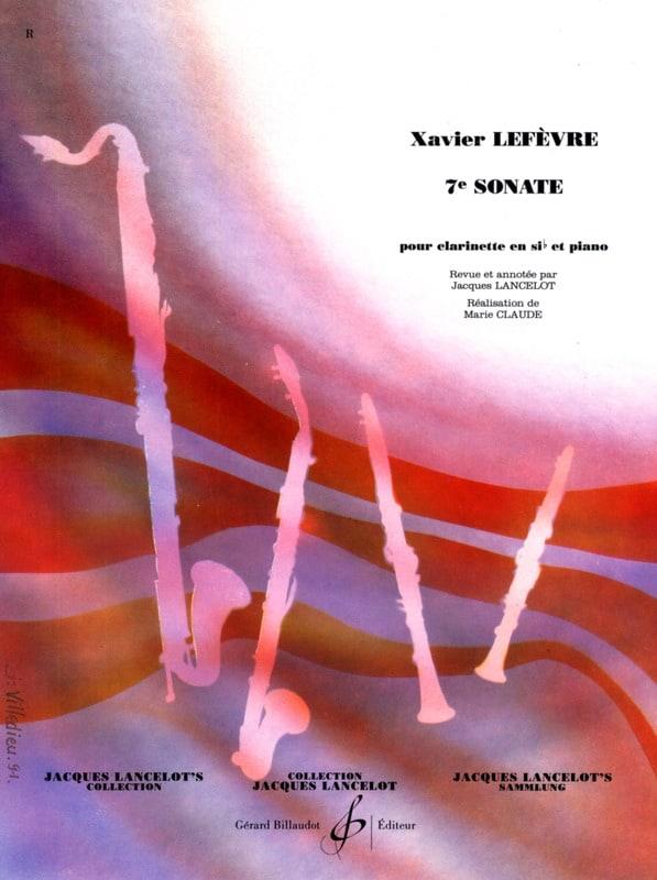 Sonate n° 7 pour clarinette - Xavier Lefèvre - laflutedepan.com