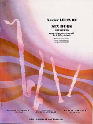 6 Duos - Xavier Lefevre - Partition - Clarinette - laflutedepan.com
