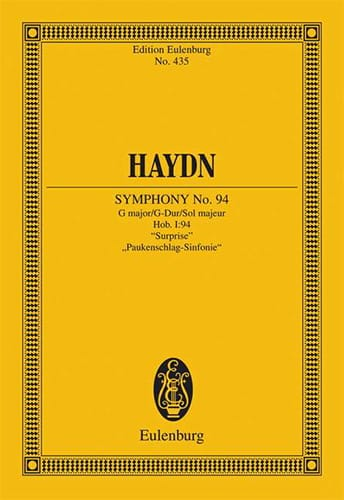 HAYDN - Sinfonie Nr. 94 G-Dur the Surprise - Partition - di-arezzo.co.uk