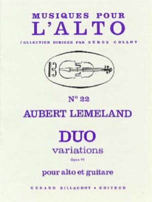 Duo Variations op. 77 - Aubert Lemeland - laflutedepan.com