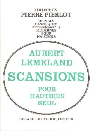 Scansions - Aubert Lemeland - Partition - Hautbois - laflutedepan.com