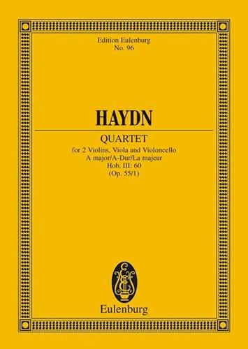 Streich-Quartett A-Dur op. 55 n° 1 - HAYDN - laflutedepan.com