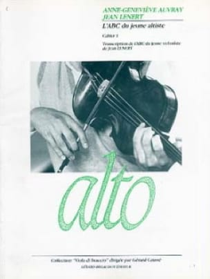 Lenert Jean / Auvray Anne-Geneviève - The abc of the young violist - Cahier 1 - Partition - di-arezzo.com