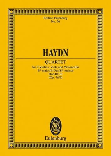 Streich-Quartett B-Dur op. 76 n° 4 - HAYDN - laflutedepan.com