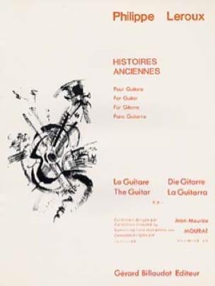Histoires anciennes - Philippe Leroux - Partition - laflutedepan.com