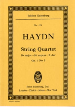 Streich-Quartett B-Dur op. 1 n° 5 - HAYDN - laflutedepan.com