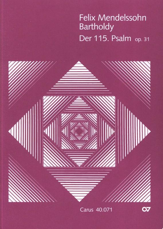 Psalm 115 op. 31 - MENDELSSOHN - Partition - laflutedepan.com