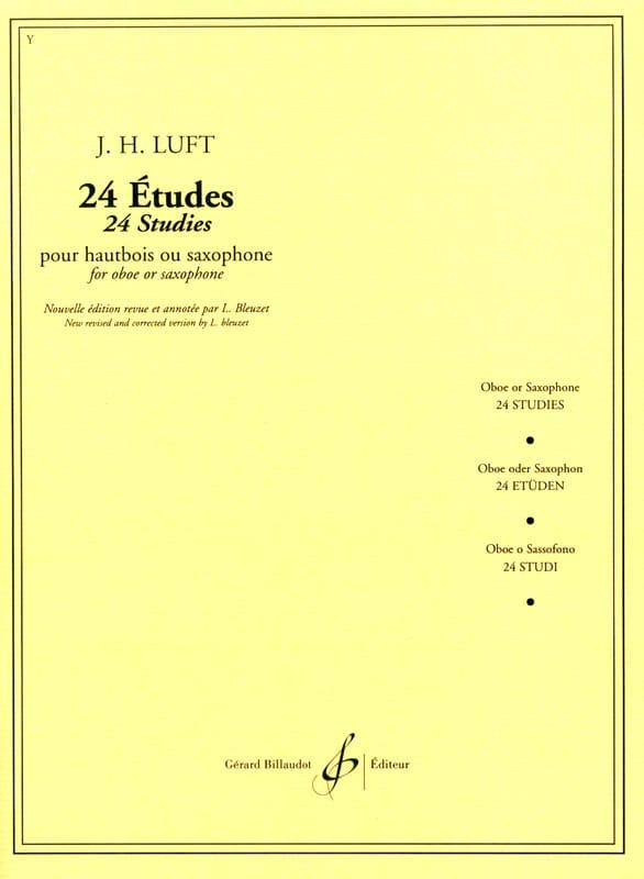 24 Etudes - Julius Heinrich Luft - Partition - laflutedepan.com