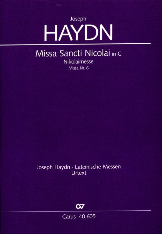 Missa Sancti Nicolai - Partitur - HAYDN - Partition - laflutedepan.com