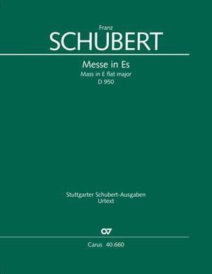 Messe in Es, D. 950 - Partitur - SCHUBERT - laflutedepan.com