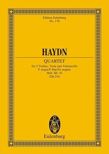 Streich-Quartett E-Dur op. 2 n° 4 - HAYDN - laflutedepan.com